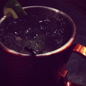Delicious Moscow Mule on our date night at Fox and Hounds! Such a fun night with my love!