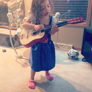 A little princess jam session on a lovely Saturday morning