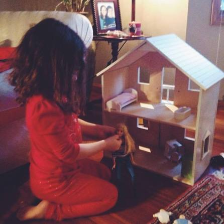 Mia and her dollhouse 2015